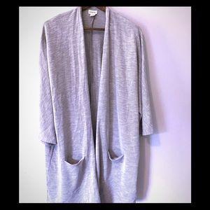 EUC Gray Donni Ribbed Sweater Coat